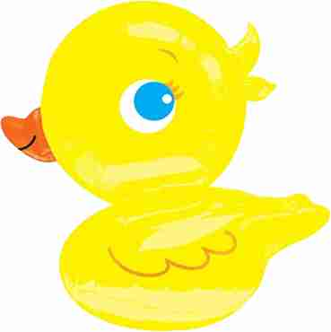 yellow ducky foil shape 27in/68cm x 28in/71cm