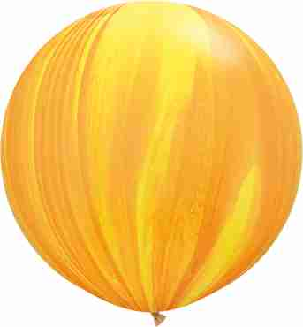 Yellow Orange Rainbow SuperAgate Latex Round 30in/75cm