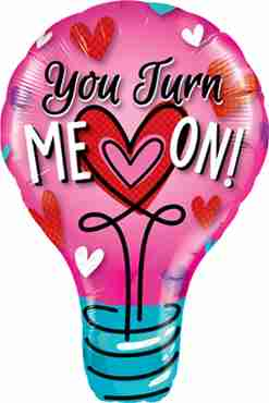 you turn me on foil shape 40in/102cm