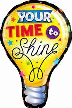 Your Time To Shine Foil Shape 40in/102cm