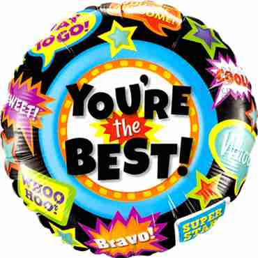 You're The Best Accolades Foil Round 18in/45cm