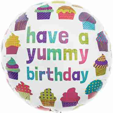 Yummy Birthday Foil Round 18in/45cm