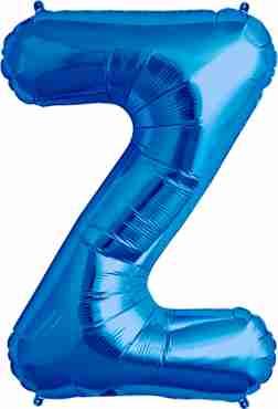 Z Blue Foil Letter 34in/86cm
