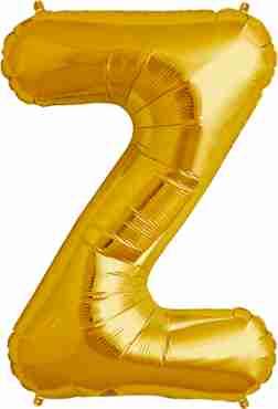 Z Gold Foil Letter 34in/86cm