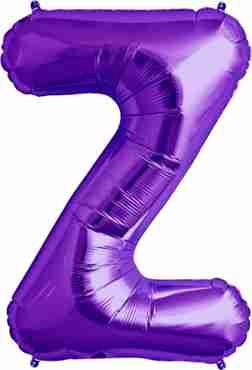 Z Purple Foil Letter 34in/86cm