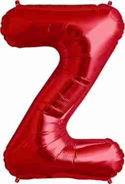 Z Red Foil Letter 34in/86cm