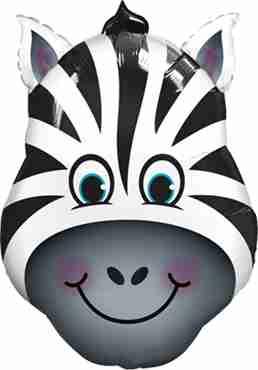 zany zebra foil shape 14in/35cm