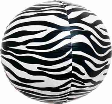 Zebra Sphere 17in/43cm