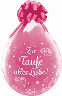 zur taufe alles liebe! crystal diamond clear (transparent) latex round 18in/45cm