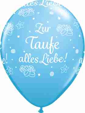 zur taufe alles liebe! standard pale blue latex round 16in/40cm